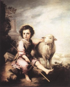 Christ the Good Shepherd, oil on canvas, c. 1660, Murillo, Museo del Prado, Madrid