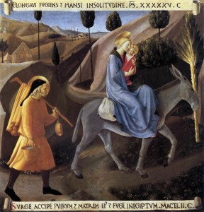 Flight into Egypt Fra Angelico