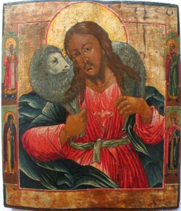 The Good Shepherd Russian icon 19th century